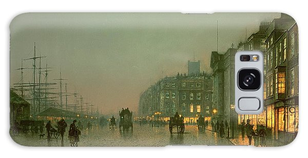 Evening Galaxy Case - Liverpool Docks From Wapping by John Atkinson Grimshaw