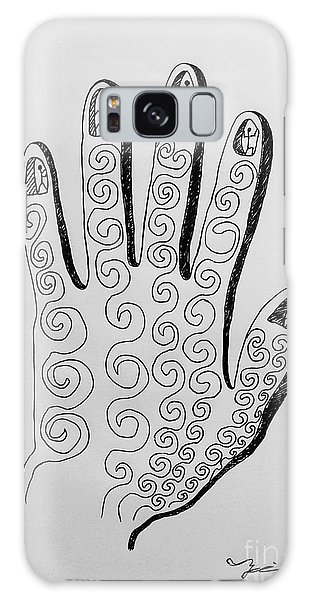 Lives Between The Fingertips Galaxy Case