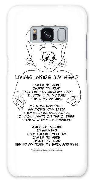 Galaxy Case featuring the drawing Living Inside My Head by John Haldane