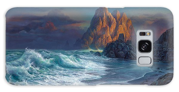 Seaside Galaxy Case - Living On The Edge by Michael Humphries