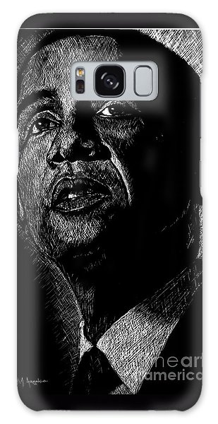 Barack Obama Galaxy Case - Living The Dream by Maria Arango