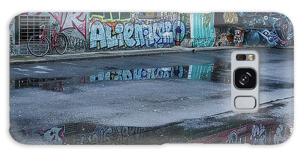 Galaxy Case featuring the photograph Ljubljana Graffiti Reflections #2 - Slovenia by Stuart Litoff