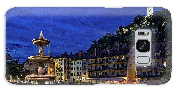 Galaxy Case featuring the photograph Ljubljana Night Scene #2 - Slovenia by Stuart Litoff