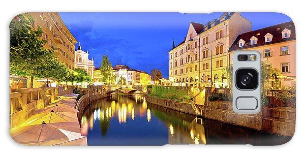Ljubljanica River Waterfront In Ljubljana Evening View Galaxy Case