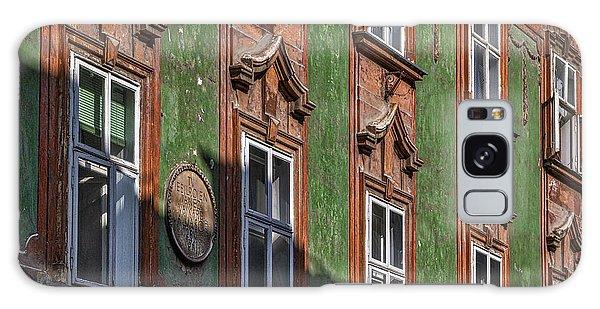 Galaxy Case featuring the photograph Ljubljana Windows #2 - Slovenia by Stuart Litoff