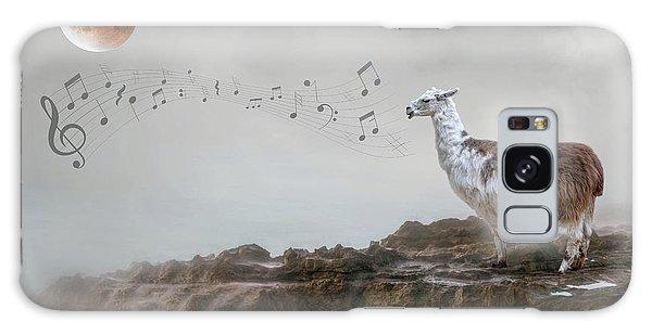 Llama Singing To The Moon Galaxy Case
