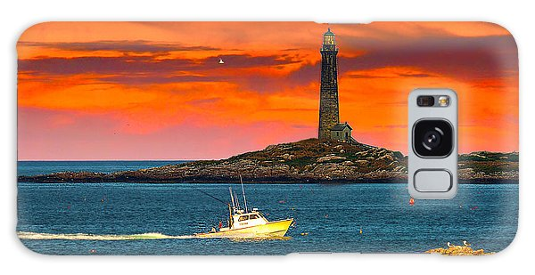 Lobster Boat Cape Cod Galaxy Case by Randall Branham