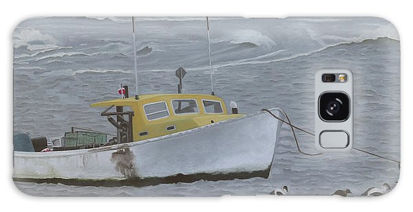Lobster Boat In Kettle Cove Galaxy Case