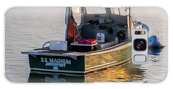 Lobster Boat Maine Galaxy Case by Trace Kittrell