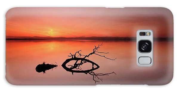 Loch Leven Sunset Galaxy Case