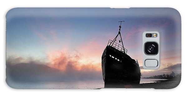 Galaxy Case featuring the photograph Loch Linnhe Misty Shipwreck by Grant Glendinning