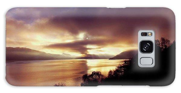 Loch Ness Winter Sunset Galaxy Case