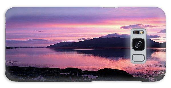 Loch Scridain Sunset Galaxy Case