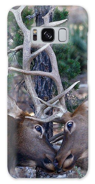 Locking Horns - Well Antlers Galaxy Case