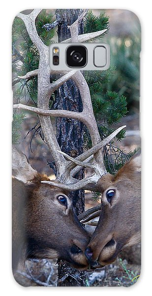 Locking Horns - Well Antlers Galaxy Case