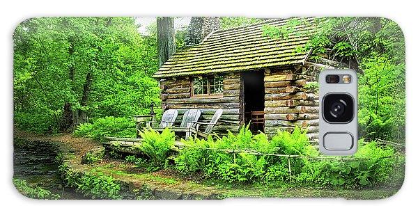 Log Cabin At Morris Arboretum Galaxy Case