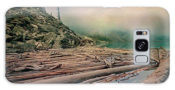 Moraine Lake Galaxy Case - Log Jam At Moraine Lake Banff National Park Canada by Joan Carroll