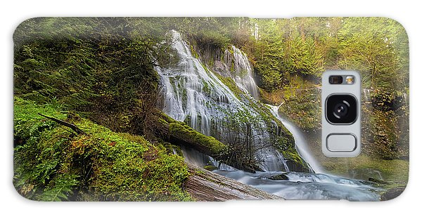 Log Jam By Panther Creek Falls Galaxy Case