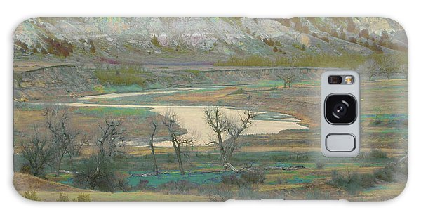 Logging Camp River Reverie Galaxy Case