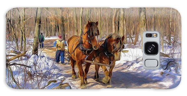 Logging Horses 1 Galaxy Case by Trey Foerster