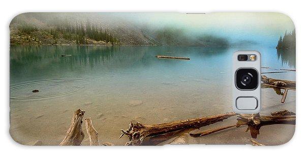 Moraine Lake Galaxy Case - Logs And Boulders Moraine Lake Banff II by Joan Carroll