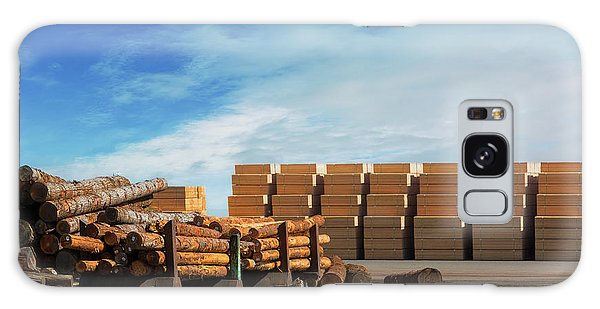 Galaxy Case - Logs And Plywood At Lumber Mill by David Gn