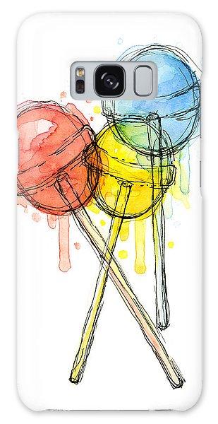 Halloween Galaxy Case - Lollipop Candy Watercolor by Olga Shvartsur