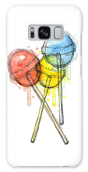 Galaxy Case - Lollipop Candy Watercolor by Olga Shvartsur
