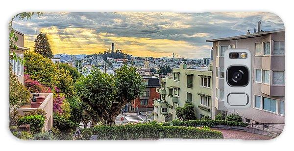 Lombard Street In San Francisco Galaxy Case