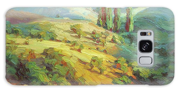 Impressionism Galaxy S8 Case - Lombardy Homestead by Steve Henderson