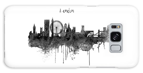 London Galaxy S8 Case - London Black And White Skyline Watercolor by Marian Voicu