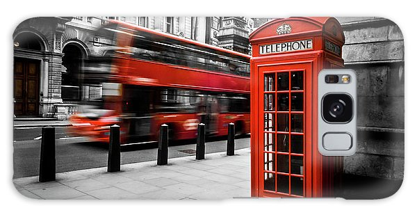London Bus And Telephone Box In Red Galaxy Case