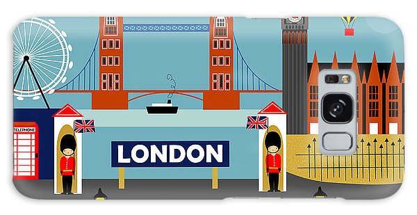 London England Horizontal Scene - Collage Galaxy Case