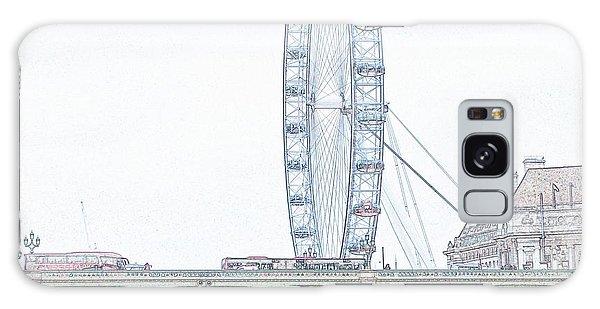 London Eye Galaxy Case - London Eye In Pencil by Sharon Lisa Clarke