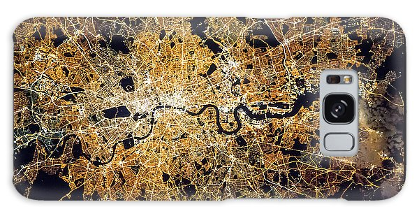 London From Space Galaxy Case by Delphimages Photo Creations