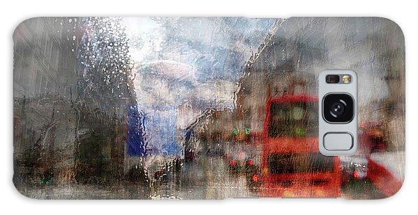 London In Rain Galaxy Case