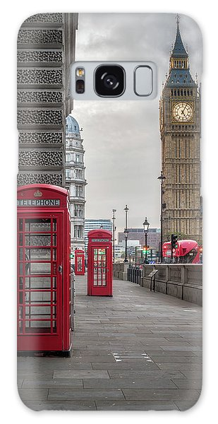 London Phone Booths And Big Ben Galaxy Case