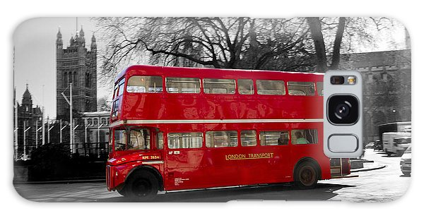 London Red Bus Galaxy Case by David French