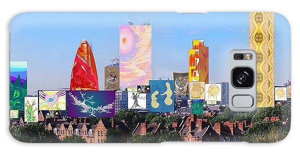 London Skyline Collage 1 Galaxy Case