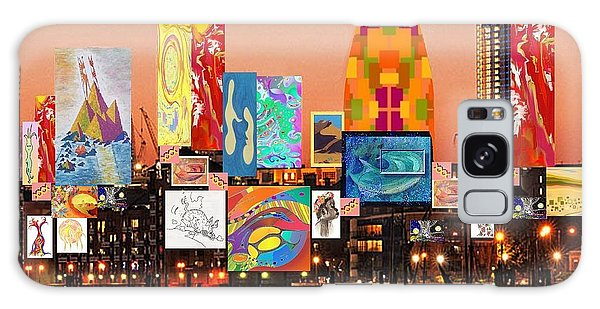London Skyline Collage 2 Galaxy Case