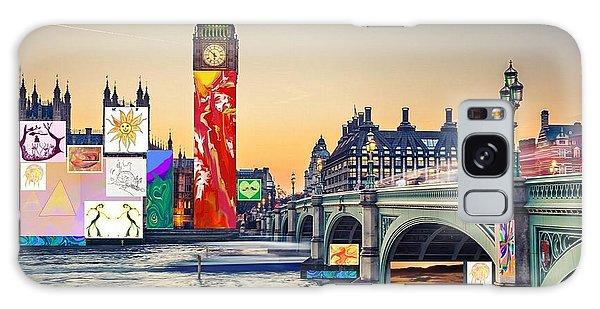 London Skyline Collage 3 Inc Big Ben, Westminster  Galaxy Case