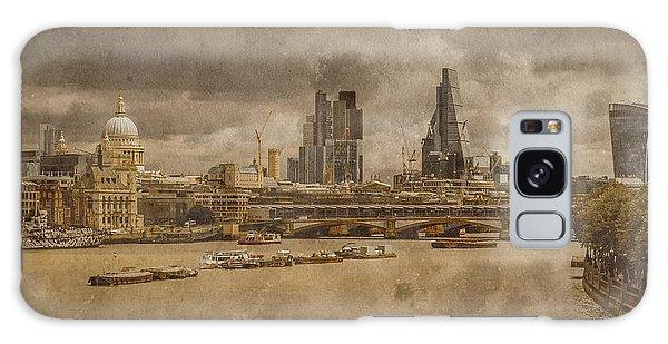 London, England - London Skyline East Galaxy Case