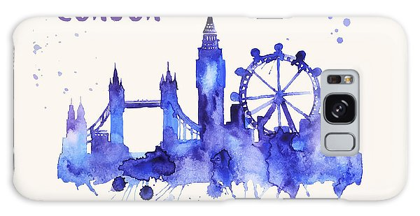 London Skyline Watercolor Poster - Cityscape Painting Artwork Galaxy Case