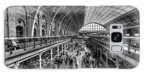 London St Pancras Station Bw Galaxy Case