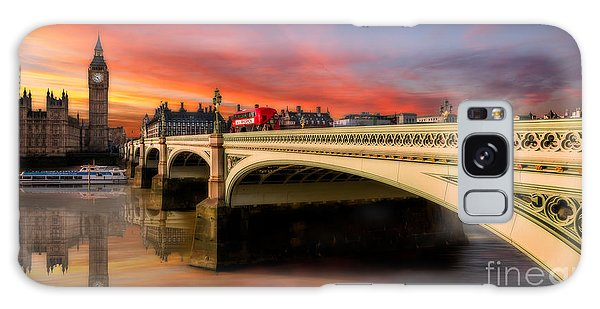 Houses Of Parliament Galaxy Case - London Sunset by Adrian Evans