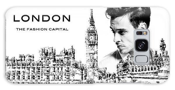 Galaxy Case featuring the digital art London The Fashion Capital by ISAW Company