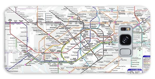 London Underground Map Galaxy Case
