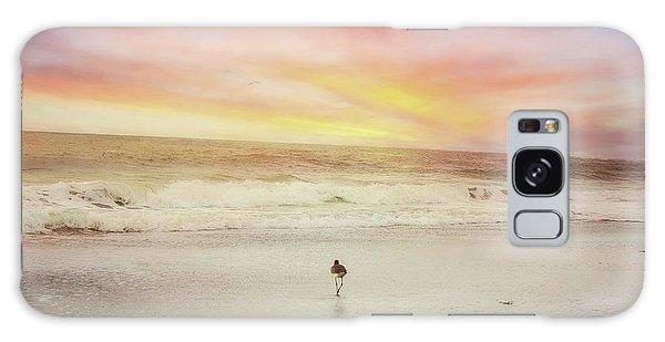 Lone Bird At Sunset Galaxy Case