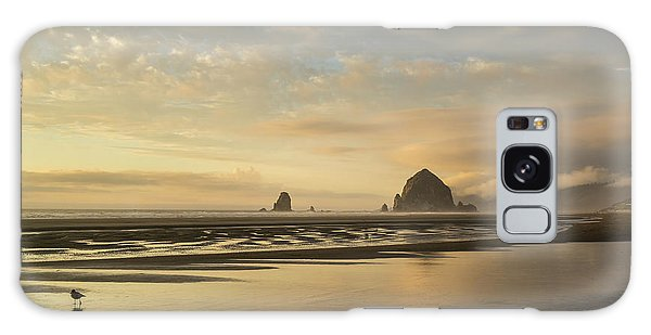 Sunset At Haystack Rock Galaxy Case