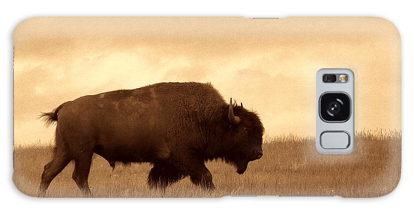 Lone Bison  Galaxy Case by American West Legend By Olivier Le Queinec